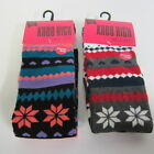 Ladies Cotton Rich Knee High Socks - SK238 - Fairisle Design Grey or Teal