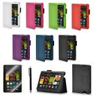 """Flip LEATHER Stand Case Cover for Amazon Kindle Fire HDX 7 Inch 7"""" 7.0 Tablet"""