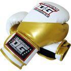 WHITE 'METALLICA' REXINE MUAY THAI KICKBOXING BOXERS GLOVES