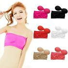 Strapless Top Bandeau Padded Bra Boob Tube Removable Pads Underwire Sports Bra