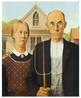 American Gothic 1930 by Grant Wood USA US Fine Art Poster Repro FREE S/H