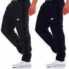 NEW MENS BLACK AND NAVY WOVEN TRACKSUIT BOTTOMS JOG PANTS PANT JOGGERS BNWT