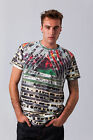 NEW MENS FLY53 WHITE CASUAL TRIANGLE DESIGNER T-SHIRT TOP SIZE S-XXL