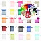 20/60/100pcs Rectangle Organza Gift Bag Jewelry Pouch Wedding Party Favor Bag