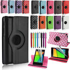 360°Rotating Leather Smart Cover Case Stand for Asus Google Nexus 7 2nd 2013