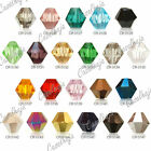 50pcs Loose Faceted Crystal Bicone Spacer Beads Jewelry Findings 6x6mm Wholesale
