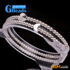 """New moon & heart  with silver plated bead elastic bracelet 7"""" fashion jewelry"""