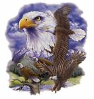 EAGLES, Eagle Collage, Eagles in Flight,  New Light Gray T-shirt S - 3XL