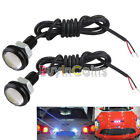 2 x Double-deck 3W White LED Slim Eagle Eye Daytime Running Light Screws BAAU