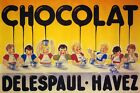 Children Delespaul Havez Dripping Chocolate Cocoa Vintage Poster Repro FREE S/H