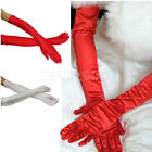 "21""Long Satin Stretch Gloves Above Elbow Bridal Prom Wedding Formal Party Gloves"