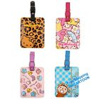 NEW SANRIO HELLO KITTY MELODY MINNA NO TABO PU LUGGAGE NAME TAG WITH STRAP