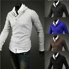 New 5 colors Stylish Mens V Neck Slim Fit KnitWear Jumper Top Pullover Sweater