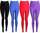 Women's High Waist Disco Pants Shiny PVC Ladies Party Leggings Trousers 8-14