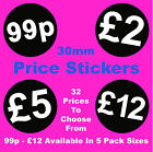 Black Promotional Display Stand Point Of Sale Retail Price Stickers Sticky POS