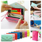 Crown Wristlet Leather Wallet Case Purse w Card Slot For Motorola MOTO G XT1032