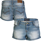 Tokyo Laundry Ella 3Y4186 Womens Casual Summer Roll Up Denim Shorts RRP £29.99