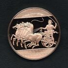"FRANKLIN MINT ""THE CHARIOTEER"" SCULPTORS' STUDIO BRONZE COIN MEDAL. M27"