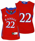 Adidas NCAA College Kids Kansas Jayhawks # 22 Basketball Jersey, Red