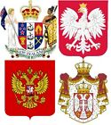 National Emblems and Royal Coat of Arms A5 or A4. iron on T-shirt Transfer *N-S*