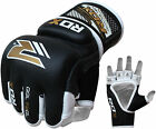 RDX Leather Gel MMA 7oz Grappling Gloves Fight Boxing UFC Punch Bag Muay OS US