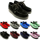 Womens Underground Wulfrun Creepers Lace Up Goth Retro Shoes Suede US Sizes 5-10