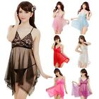 Hot Women Lace Bra Sexy Lingerie Babydoll Sleepwear Nightie Chemise  G-String