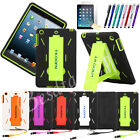 Defender Rubber Heavy Duty Hybrid Protector Hard Case Stand Cover For iPad 5 Air