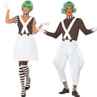 Adult Umpa Lumpa Factory Worker Oompa Loompa Fancy Dress New Costume & Wig Mens