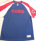 MAJESTIC MLB Chicago Cubs Mens V-Neck Short Sleeve Shirt Size Large NWT