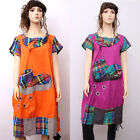 CX127 Women Summer Clothing Casual Dress Long Skirt Gown Robe Chinese Trend