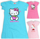 Girls Hello Kitty Nightdress Kids Nightie Pink Blue New Bnwt Age 4 6 8 10 Years