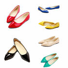 Womens Ladies Court Shoes Miss Pointed Toe Flats Low Heels Pumps Loafers Size