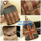 MEN WOMEN Flag Printing Canvas Backpack Shoulder Bag Schoolbag ENGLAND USA