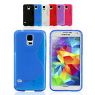 S Curve Gel TPU Silicone Case Cover for Samsung Galaxy S5 G900 G900I G900F 4G