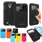 For Galaxy S4 Anti-Shock/proof View Flip Wallet Bumper case cover w/magnet lock