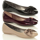 WOMENS LADIES FLAT DOLLY BALLET PUMPS SHOES SIZE 3 - 8