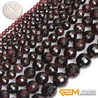 """Natural Round Faceted Garnet Jewelry Making loose gemstone beads strand 15"""""""