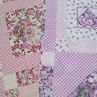 Floral Hearts Check Squares And Polka Dots Polycotton Fabric