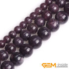 "Natural Stone Purple Lepidolite Round Beads For Jewelry Making 15"" 6mm 8mm 10mm"