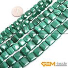 """Natural Assorted Shapes Grade AA Malachite Gemstone Beads For Jewelry Making 15"""""""