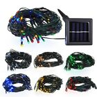 100 LED Waterproof Solar Power String Light Net Outdoor Garden Decor Lamp Opt