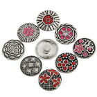 5PCs Snap Buttons Charms Pattern Carved Fit Snap Bracelets M2242