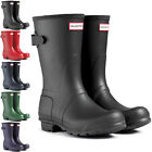 Womens Hunter Original Adjustable Back Short Wellies Festival Rain Boots UK 3-9