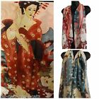 JAPANESE GEISHA PRINT CHIFFON FEEL FASHION LADIES SCARF SHAWL SARONG 155cmx50cm