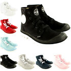 Womens Palladium Blanc Lace Up Ankle High Leather Trainer Boots New UK Sizes 3-8
