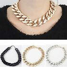 Hot Chunky CCB Link Chain Choker Thick Curb Chain Statement Bib Necklace Z4