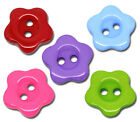 25 Mixed buttons Resin / Acrylic Flowers, Stars, Round, Hearts , polka Hearts