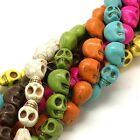 Skull Beads Howlite Large Skull Beads 18mm Assorted Colors Skeleton Beads