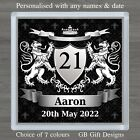 PERSONALISED 16th 18th 21st 30th 40th 50th ANY AGE BIRTHDAY DRINKS COASTER GIFT